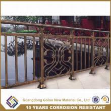 Сад Безопасность Нет Сварка Оцинкованная сталь Бронзово-цветная трубчатая декоративная ограда
