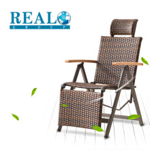 High quality outdoor folding metal chair loungers rattan chair on sale