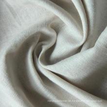 30s 15% Leinen 85% Rayon Stoff, Leinen Rayon Plain Fabric