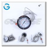 High quality all stainless steel back mounting industrial capillary temperature meter with flange