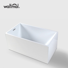 Rectangular White Acrylic Freestanding Bathtub