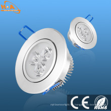 Downlight empotrable de aluminio de 3W LED / luz de techo