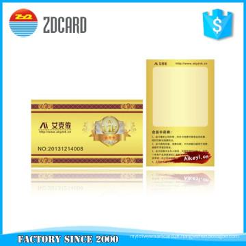 Cartão inteligente de plástico regravável em branco com chip Sle4442