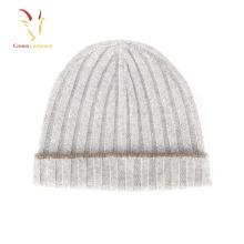 Inverno 100% Cashmere Gorros De Malha Caps