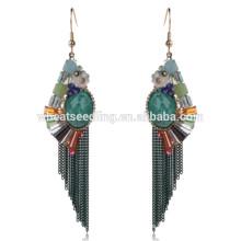 Heiße schöne grüne Quaste letzte hängende Braut täglich tragen Ohrringe