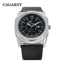 Big Dial Watch pulseira de couro Ss fivela