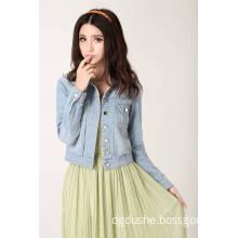 Lady Light Blue Fashion Denim Jacket S141302L