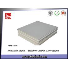 Hoja de la junta de teflón de PTFE del proveedor de China