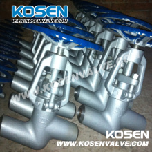 Válvulas de globo de acero y aleación de acero central