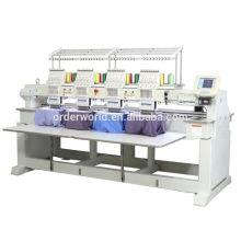 4 máquina terminada principal do bordado dos vestuários do tampão liso