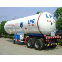 Remorque de réservoir de capacité de la remorque 60m3 de réservoir de LPG de 3 axes / semi remorque de réservoir de stockage de GPL