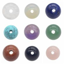 18 MM Natural Semi Precious Stone Round Beads Lubang Besar