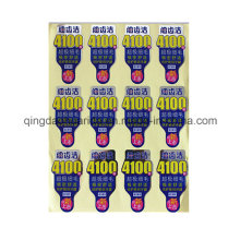 Self-Adhesive Custom Print Destructive Eggshell Sticker Label