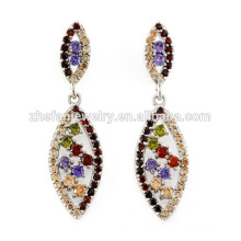 latest fashion gold earrings models italian costume jewellery Rhodium plated jewelry is your good pick