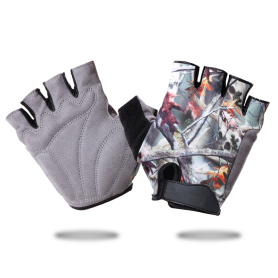 Cycling Gloves Half-finger Lycra Breathable