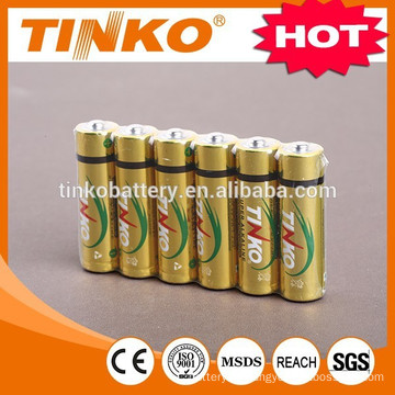 DRY BATTERY size AA LR6 with SGS, MSDS