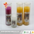 Religious candle glass jars