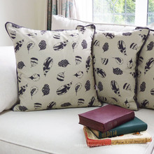 stuffed feather cushion