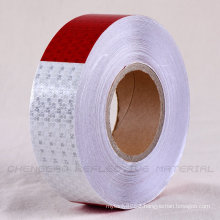 DOT-C2 White and Red Safety PVC Reflective Tapes for Trailers