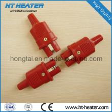 Enchufe de alta temperatura de silicona rojo