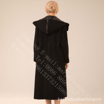 레이디 메리노 Shearling Overcoat for Women