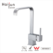 Haijun Factory Direct Sell Luxury Square Ceramic Valve Home Kitchen Sink Faucets