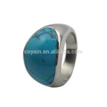 Importación de China Afortunado anillo de plata de piedra para los hombres