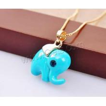 2015 Gets.com elephant pendant, fashion pendant, zinc alloy pendant with brass chain