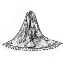 100% Polyester Women Flower Dying Scarf Elegant Soft Shawl