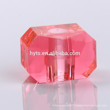 square pink perfume bottle cap for perfume bottle