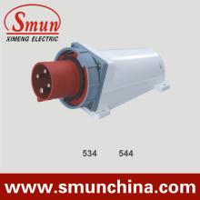 4pin 380V IP67 Módulo de montagem na parede, 16A 125A PA66 / Nylon / ABS Material