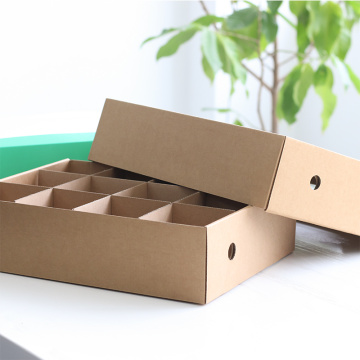 New Design Printed Fruit Box with Plastic Handle