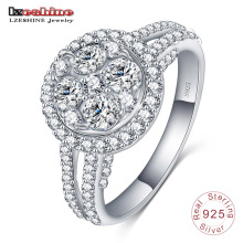 Anillo de plata 925 de la joyería de la boda de la piedra preciosa del anillo de plata (SRI0018-B)