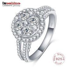 925 итальянский серебряное кольцо драгоценный камень обручальное кольцо ювелирных изделий (SRI0018-Б)
