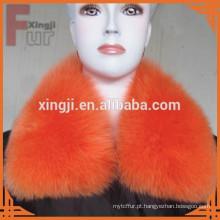 Qualidade superior cor tingida de pele de raposa qualquer tamanho colar de raposa