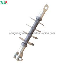 11 / 12kv Isolateurs de suspension à polymère composite haute tension Clevis Ending
