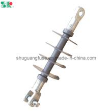 11/12kv High Voltage Composite Polymer Suspension Insulators Clevis Ending