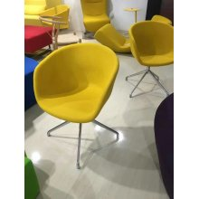Arte Cátedra, silla del pasillo, silla pública, silla de cuero (XT03)