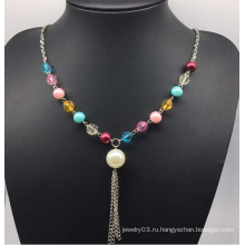 Красочные бусины ожерелье жемчуг свитер (XJW13754)