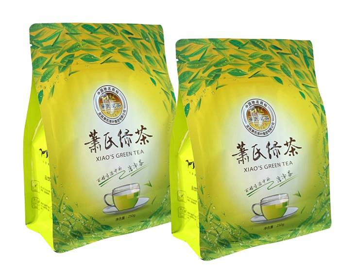 Flat Bottom Zipper Bag Plastic Tea Packaging Bag​