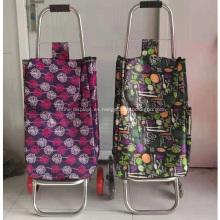 Carrito de la compra con ruedas carrito de equipaje bolsa plegable
