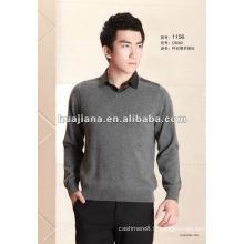 Collier de chemise des hommes de la mode 2014 100% pull en cachemire