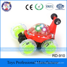 Plastic Musical And Lighted RC Stunt Car Toy