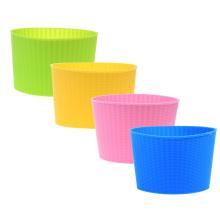 Manga de copo de café de silicone flexível resistente ao calor