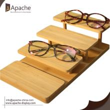 Good Quality for Sunglasses Display Rack Custom Design Bamboo Counter Sunglasses Display Stand export to Liberia Wholesale