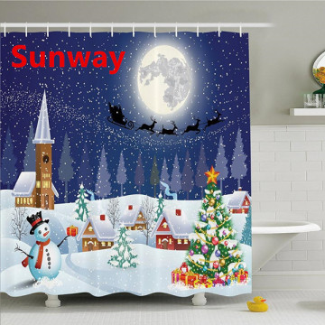 Cheap+Christmas+Shower+Curtain