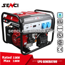 Senci SC3000LPG/NG 7HP 2.5kw Natural gas generator set