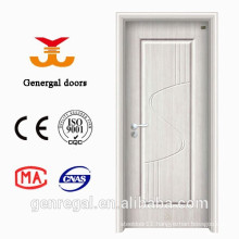 Economical white raised panel steel and wood interior door