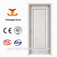 Porta de painel de aço levantada branco econômico e madeira interior