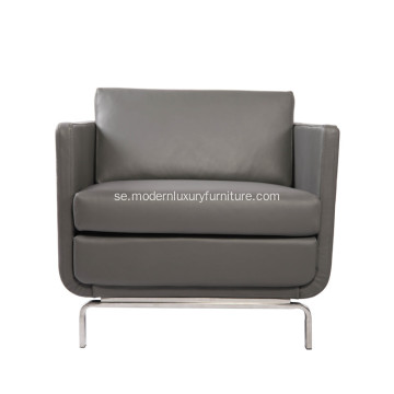 Modern Gaia High-Arm Läder Lounge Chair Replica